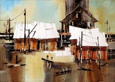 This site offers a gallery of watercolor paintings by Russell Black. Sheds, Barns, Watercolor Paintings, Black, Shed Houses, Garden Huts, Water Colors, Black People, Shed