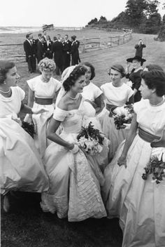 Jackie Kennedy on her wedding day, Newport, R.I., Sept. 12, 1953. (Lisa Larsen—Time & Life Pictures/Getty Images)