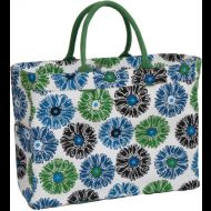Shop here- $1 of every $5 goes to our charity! Gerber Daisy Blue Carryall Tote