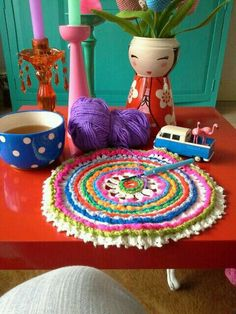 Colorful Decor, House Colors, Kids Rugs, Dining, Crochet, Interior, Crafts, Nice, Home Decor