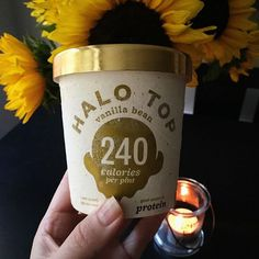 No birthday is complete without some ice cream!  Along with the cauliflower crust pizza (see my last post) we also celebrated my hubs' birthday with this heavenly treat by @halotopcreamery! It's 100% all-natural high in protein low in sugar and craaaaaazy delicious!  by sabrinafitnessandnutrition http://hauteaudio.com