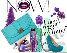 """Teal and Purple"" by catherine-holcombe ❤ liked on Polyvore"