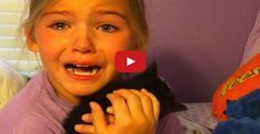 A nine-year-old girl cried tears of joy when she came home from a friend's house one day and found a tiny black kitten in her bedroom.