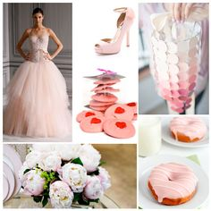 Pretty blush pink elements -- perfect for a summer wedding.