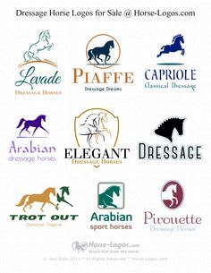 #Dressage #Horse #Logos for Sale @ Horse-Logos.com