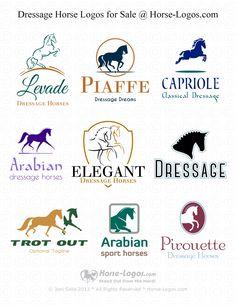 #Dressage #Horse #Logos for Sale @ Horse-Logos.com