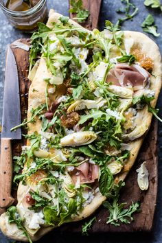 Flatbread With Fresh Greens & Ricotta | 20 Healthy Meals You Can Make In 20 Minutes