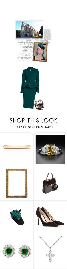 """""""(V) Attends Sunday matins at St Mary & St Nicholas in Wilton"""" by immortal-longings ❤ liked on Polyvore featuring Lanvin, Tiffany & Co., Piranesi, Gianvito Rossi and Blue Nile"""