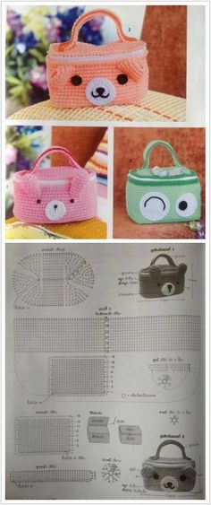 Crochet bag for food container, free charts, 9/15
