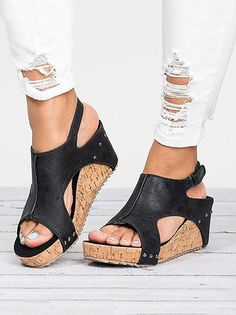 9c48bed05762 39 Best Low Wedge Sandals images