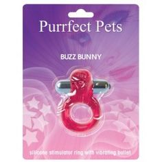 Purrrfect pet cockring clit stimulator bunny - magenta Purrfect Pets Vibrating Cock-Ring Clit Stimulator Dolphin gives super powerful vibrating action in a one size fits all penis ring. Easy off/on push-button control. Batteries included. Playtime never felt sooooo good! $10.23