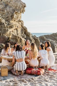 girls just want to have coachella themed beach fun bridal shower