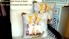 Marilyn Monroe 18x18 pillow cover  Christmas gift by SABDECO, €39.00