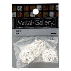 """Take fashion into your own hands by making unique jewelry creations with these Large Silver Filigree Bead Caps! Featuring a gorgeous silver color and an ornate pattern, these bead caps are perfect for adding to necklaces, bracelets, earrings, and more!        Dimensions:      Length: 3/8""""    Diameter: 1/2""""          Package contains 10 bead caps."""