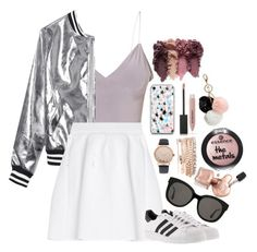 """""""Happy Sunday!"""" by lorna-castillo ❤ liked on Polyvore featuring Sans Souci, malo, adidas, Gentle Monster, Jessica Carlyle, GUESS and Burberry"""