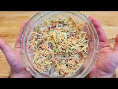 rețetă delicioasă de salată, niciodată, niciodată nu te-ai săturat să o gătești # 244 - YouTube Salad Recipes, Diet Recipes, Carrot Salad, Coleslaw, Grains, Cabbage, Carrots, Cooking, Food