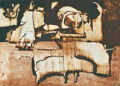 Ország Lili - Papirusz töredékek, 1970 Abstract Paintings, Texture, Landscape, Wood, Crafts, Art, Surface Finish, Art Background, Scenery