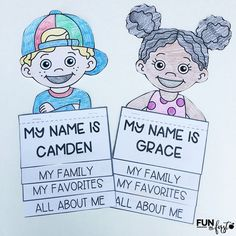 This FREE All About Me Flip Book comes with 28 different kid topper and an editable box to type in students' names.