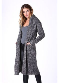Hood To Be Warm Cardigan in Grey | Necessary Clothing