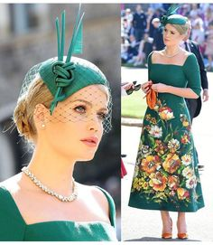 Lady Di niece Kitty Spencer in D&G at Windsor Castle for the wedding from Prince Harry & Meghan Markle Royal Wedding Themes, Royal Wedding Gowns, New Wedding Dresses, Royal Wedding Outfits, Vestidos Vintage, Vintage Dresses, Kitty Spencer Royal Wedding, Wedding Hats For Guests, Fairytale Hair