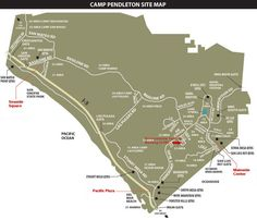 Camp Pendleton- this could come in handy Camp Pendleton California, California Map, California Camping, California Living, Once A Marine, My Marine, Us Marine Corps, Usmc Love