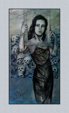 """""""Frame of Reference"""" Charcoal on paper by David Meyer 1987"""