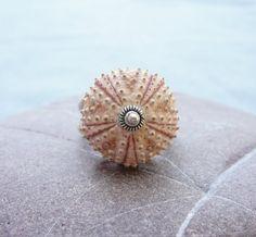 Sterling Silver Sea Urchin Ring Pastel Pink door StaroftheEast, $70,00