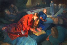 mary magdalene at jesus's feet | mary at jesus feet image search results