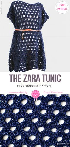 The Zara Tunic Free Crochet Pattern | EASYWOOL