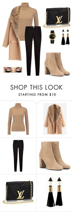 """Untitled #7"" by tomarongmaryantonette ❤ liked on Polyvore featuring Agnona, Yves Saint Laurent and Rolex"