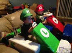 Mario Go cart...dress Reese up as peach and decorate her wagon to look like Peach's cart!!