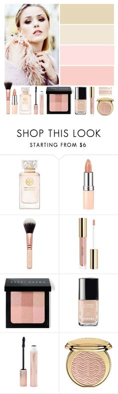 """Soft Neutrals"" by the-messiah ❤ liked on Polyvore featuring beauty, Tory Burch, Rimmel, Bobbi Brown Cosmetics, Chanel, Forever 21 and Christian Dior"
