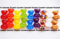 CANDY COLOR TICKET/スイーツデコアート Uv Resin, Resin Art, Shrink Plastic, Decoden, Uv Gel, Candy Colors, Resin Crafts, Key Chain, Ticket