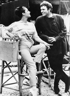 Elizabeth Taylor and Richard Burton on the set of Becket.