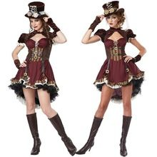 2016 New Adult Womens Sexy Halloween Party Circus Clown Costumes Outfit Fancy Steampunk Girl Cosplay Dresses Size M With Gloves //Price: $US $52.54 & Up To 18% Cashback //     #gothic