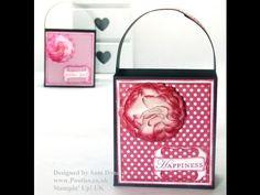 ▶ Stampin Up UK Handled Gift Bag Tutorial - YouTube