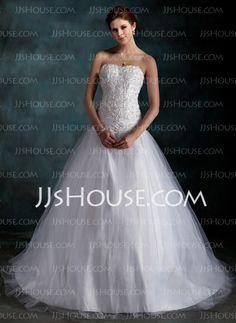 Wedding+Dresses+-+$189.99+-+Ball-Gown+Sweetheart+Court+Train+Taffeta+Tulle+Wedding+Dress+With+Ruffle+Lace+Beadwork+(002000160)+http://jjshouse.com/Ball-Gown-Sweetheart-Court-Train-Taffeta-Tulle-Wedding-Dress-With-Ruffle-Lace-Beadwork-002000160-g160