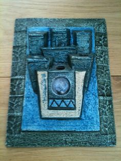 Superb Troika Pottery Posy Wall Pocket Plaque By Alison Brigden