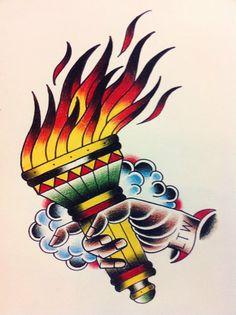 Tattoo Art Flash - Olympic Torch