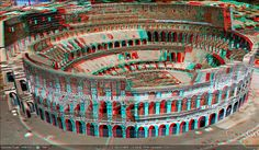 3D.Colosseum of Rome by 3D Anaglyph.Turkiye, via Flickr