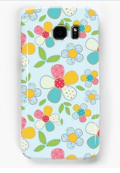 Summer. Flowers illustration Samsung Galaxy Cases & Skins on RedBubble
