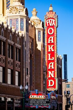 Fox Oakland theater in Oakland, California My great-grandfather made the beveled mirrors for this venue. -Bluestocking Rage