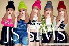 Sims 3 Colorful Beanies by JS Sims 3 Custom Content Download
