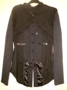 Vintage STEAMPUNK black/grey morning jacket/tailcoats fancy dress or goth style-
