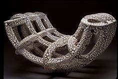 Andy Ruble: Crackle Arch - love the form and texture on this #sculpture #ceramics