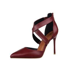 Hollo Out Pointed Toe New Autumn and Winter Romantic Classic High Heel Strappy Bandage Sexy European Style Pumps Shoes for women Fashion for women Women`s outfit Outfit ideas for women Style inspiration Women`s wardrobe Clothes for women Wear for women Classy Awesome Gorgeous Casual Street