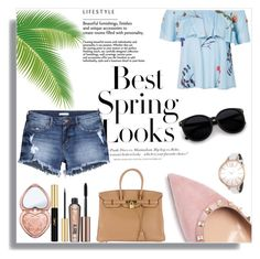 Best Spring Looks ☀️ by myllenamorenaguerra on Polyvore featuring polyvore, fashion, style, H&M, Valentino, Hermès, Calvin Klein, Too Faced Cosmetics, Benefit, Yves Saint Laurent and clothing