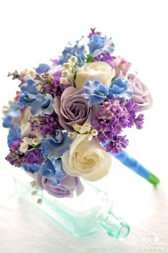 periwinkle blue bridesmaid bouquets - Google Search