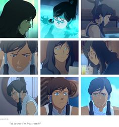 """""""of course i'm frustrated!"""" - Korra"""
