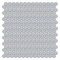Shop for Penny Round Sky Blue at The Tile Shop. Penny Round Tiles, Penny Tile, Upstairs Bathrooms, Downstairs Bathroom, Tile Countertops, Backsplash, Kitchen Redo, Kitchen Remodel, Kitchen Ideas